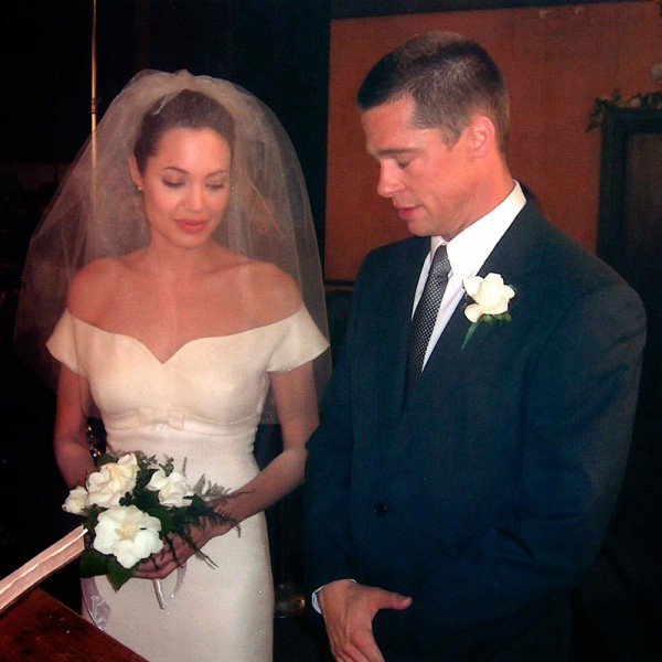 Hollywood Actor Brad Pitt And Actress Angelina Jolie Marriage Pictures