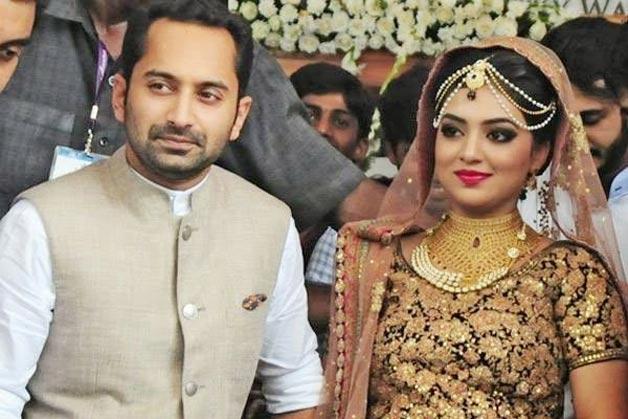 Actress Nazriya Nazim And Fahad Fazil Wedding Photos