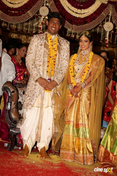INC Leader Danam Nagendar Daughter Manisha And Abhinav Wedding Photos