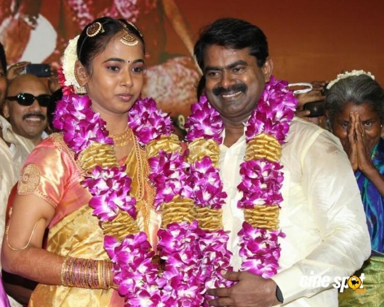 Kayalvizhi And Actor Seeman Marriage Photos