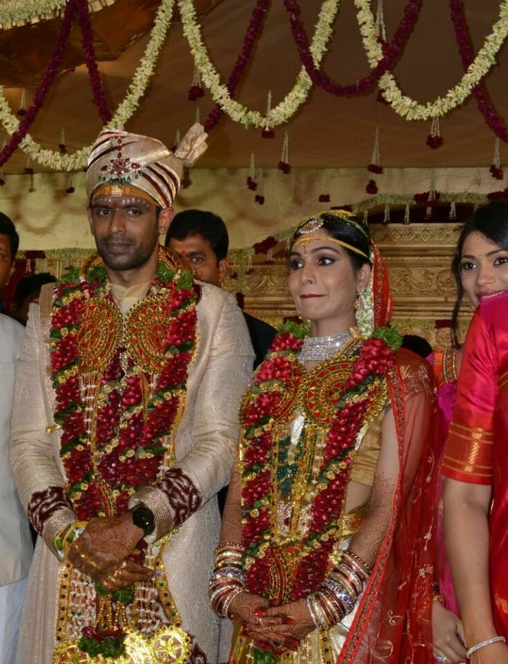 Sabitha Indra Reddy Son Karthik And Lakshmi Sravanthi Marriage Photos