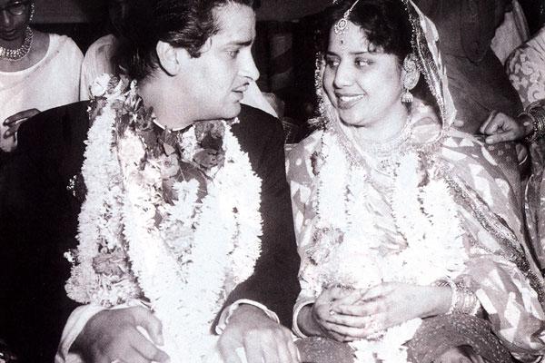 Geeta Bali And Shammi Kapoor Marriage Photos