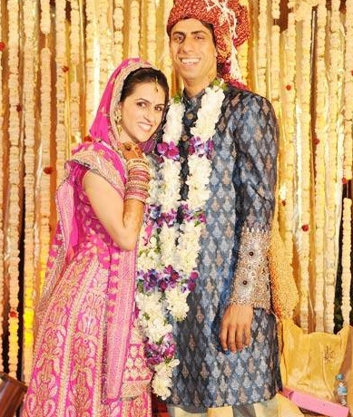 Rushma And Indian Cricketer Ashish Nehra Marriage Photos