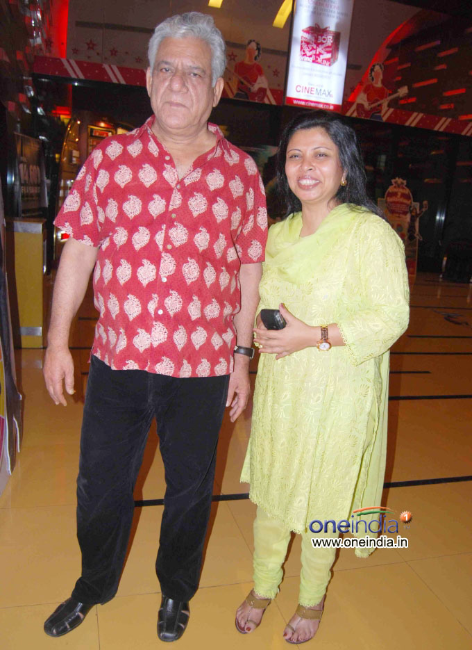 Om Puri And Nandita Puri Wedding Photos