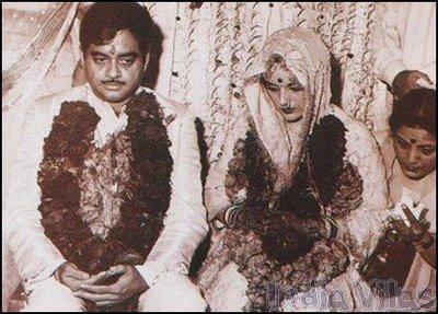 Poonam Sinha And Shatrughan Sinha  Marriage Photos