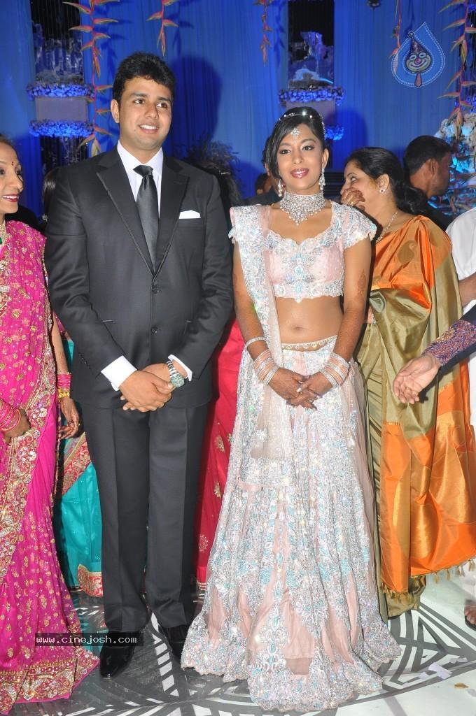 Raghu Veera Reddy Daughter Amrithaveer And Nishanth Bejawada Wedding Photos