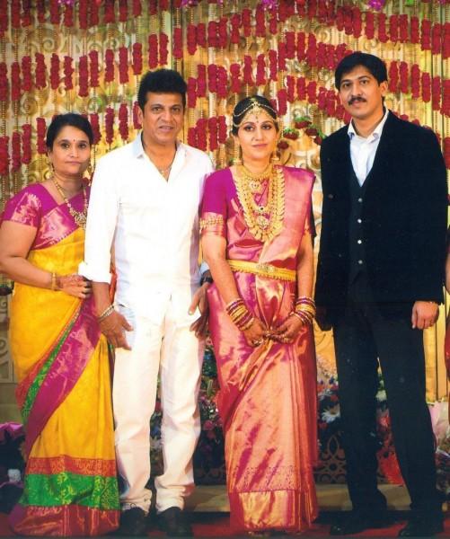 Shivaraj Kumar Daughter Nirupama And Dileep Wedding Photos