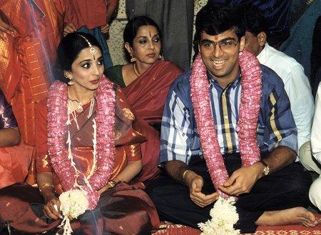 Viswanathan Anand And Aruna Wedding Photos