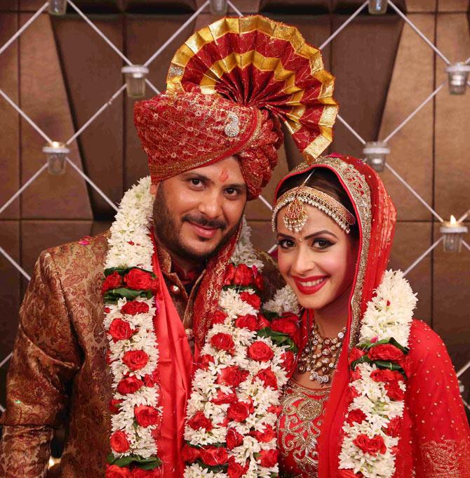 TV Actress Dimple Jhangiani And Sunny Asrani Wedding Pics