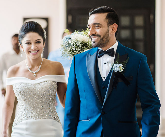 Indian Cricketer Robin Uthapp And Sheethal Goutham Wedding Photos