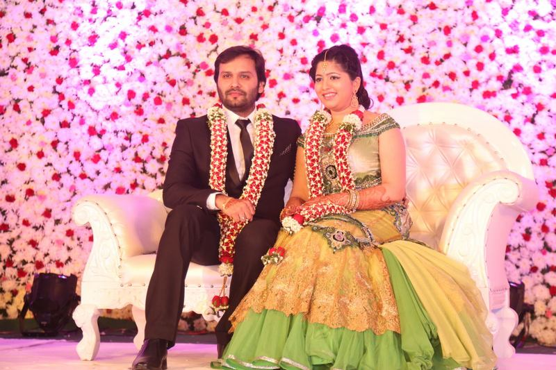Actress Jayaprada's Son Siddharth And Pravallika Reddy's Wedding Photos