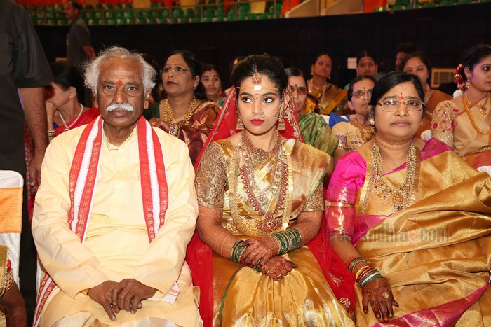 Bandaru Dattatreyas Daughter Married Dr Jignesh Reddy