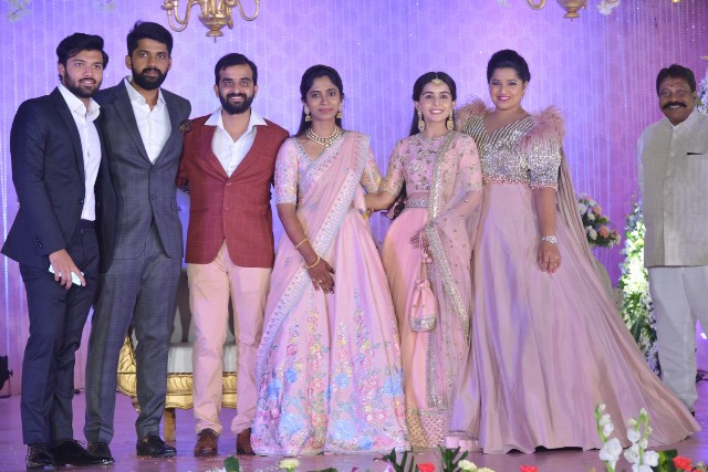 Celebs At Dil Raju�s Nephew Harshith Reddy And Gowthami Wedding Reception