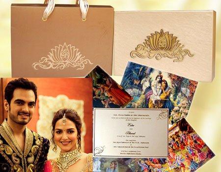 Interesting Wedding Invitations Of Bollywood Celebrity Couples