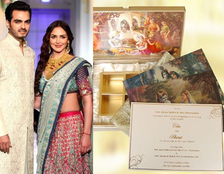 Interesting Wedding Invitations Of Bollywood Celebrity Couples