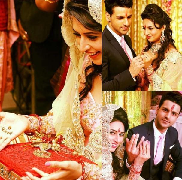 Divyanka Tripathi And Vivek Dahiya Engagement Photos