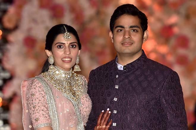 Akash Ambani-Shloka Mehta Engagement Pics