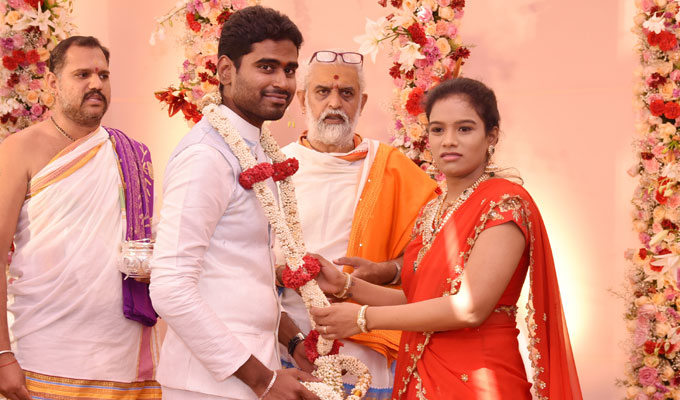 Paritala Sunitha Daughter Sneha Latha Engagement Photos