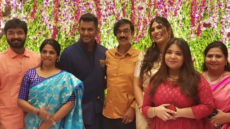 Vishal And Anisha Reddy Engagement Pics